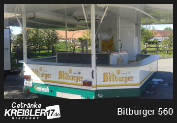 Bierwagen Insel Bitburger Getränke Kreißler