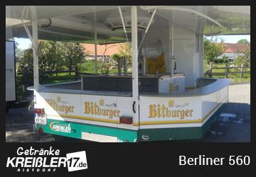 Bierwagen Insel Bittburger Pilsener Getränke Kreißler