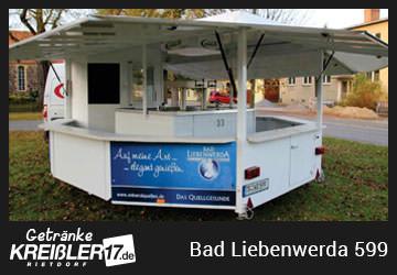 Bierwagen Insel Bad Libenwerda Getränke Kreißler