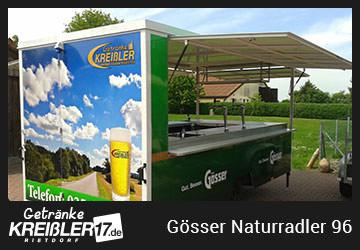 Bierwagen Gang Gösser Naturradler Getränke Kreißler