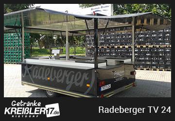 Bierwagen Gang Radeberger Getränke Kreißler