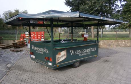 Bierwagen Gang Wernesgrüner Getränke Kreißler