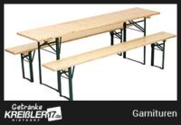 Garnituren Bierzeltgarnituren Zubehör mit hellem Holz