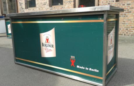 Klapptheke ohne Spühle Firmierung Berliner Pilsener