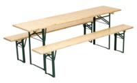 Garnitur Bierzeltgarnituren mit hellem Holz