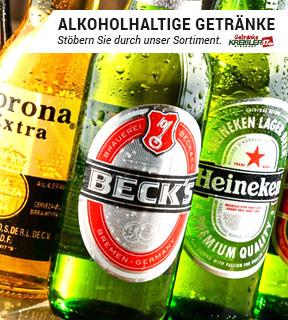 Hier finden Sie unser Sortiment für Alkoholhaltige Getränke.
