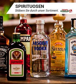 Hier finden Sie unser Sortiment für Spirituosen