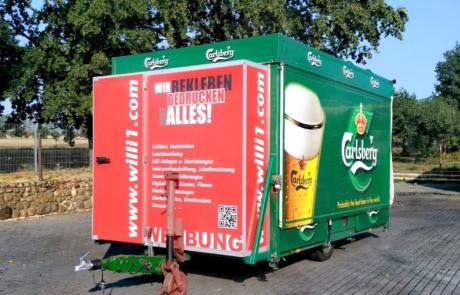 Bierwagen Insel Carlsberg Pilsener Getränke Kreißler